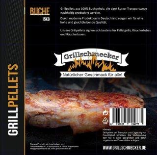 GRILLSCHMECKER Grillpellets reine Buche 15kg